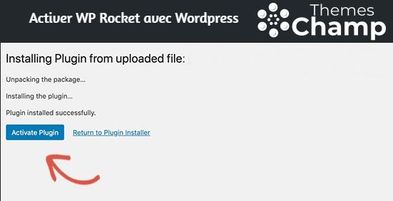 Activer WP Rocket avec WordPress
