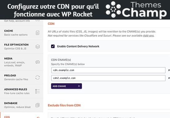 Configurez votre CDN pour qu'il fonctionne avec WP Rocket