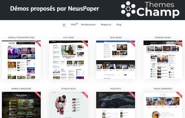 Démos proposés par NewsPaper