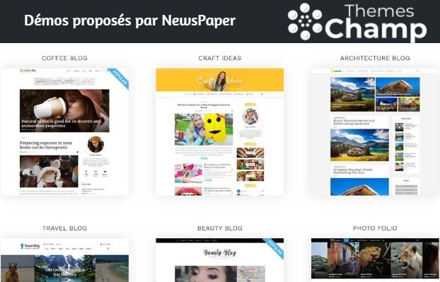 Exemples de démonstrations des blogs