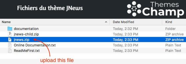 Fichiers du thème JNews