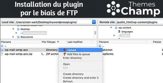 Installation du plugin par le biais de FTP