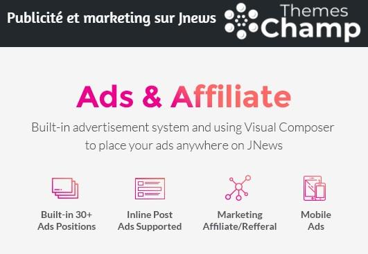 Publicité et marketing sur Jnews