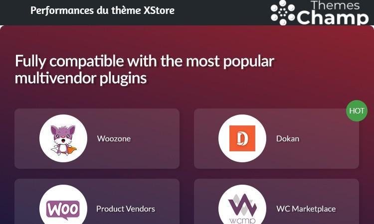 XStore est compatible avec les autres plugins