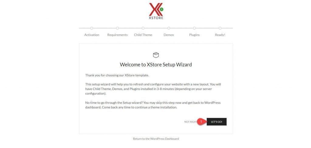 l'assistant d'installation rapide de XStore