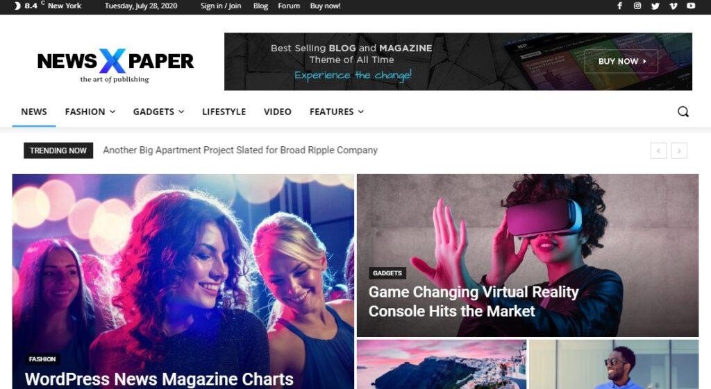 Télécharger le thème NewsPapaer de wordpress