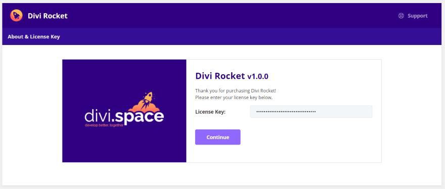installation et activation de divi Rocket