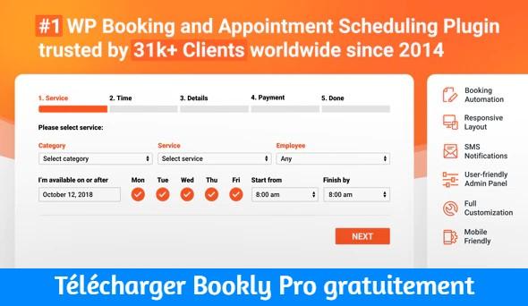 Télécharger Bookly Pro gratuitement