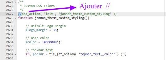 Modification de fichier style du thème Jannah nulled